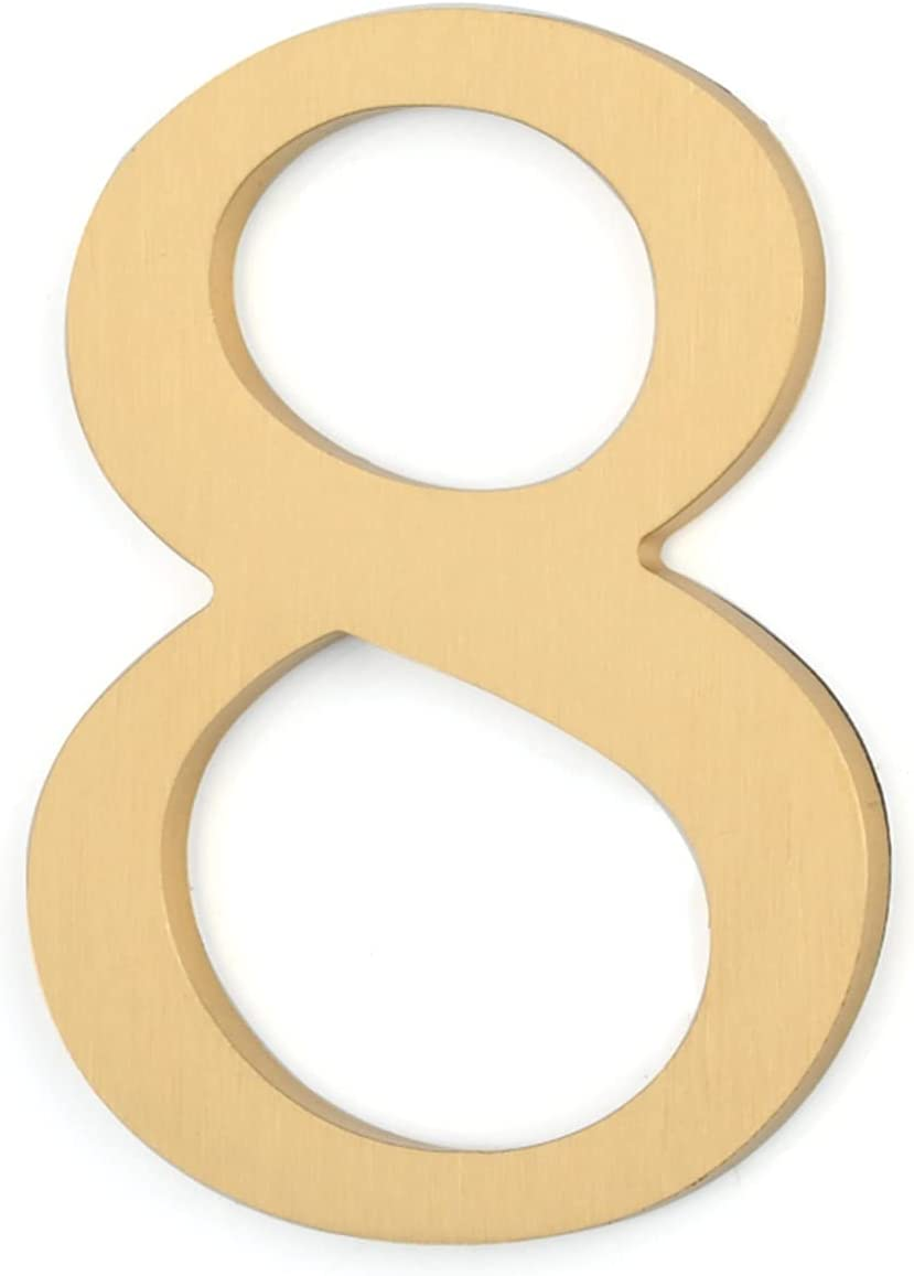 Alysays Useful New product type Self-Adhesive Solid Brass Numbers House Credence Floating