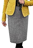 Falda de cuadros de Ediie Bauer - lana, Negro/Blanco, 20% poliamida 5% otro 100% poliéster. 75%...