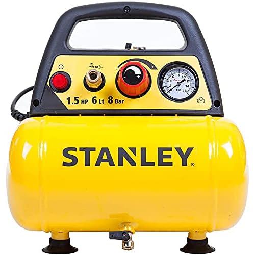 Stanley D 200 Compressore 6 Lt 1,5HP, pressione max 8 bar/116 PS, Rumorosità: 97 dB
