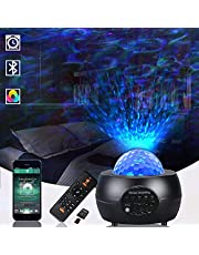 JESLED Star Projector, LED Night Light,3 in 1 Galaxy Light Projector Lamp for Bedroom Ceiling Ambience/Room/Party/Home Decorations/Kids Nursery Lighting(Remote+Bluetooth+TF Card Play&USB Powered)