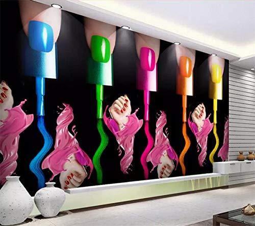 Maßgeschneiderte Großformatige Tapete 3D Wandbilder Make-Up Nagellack Arm Kosmetik Shop Werkzeug...