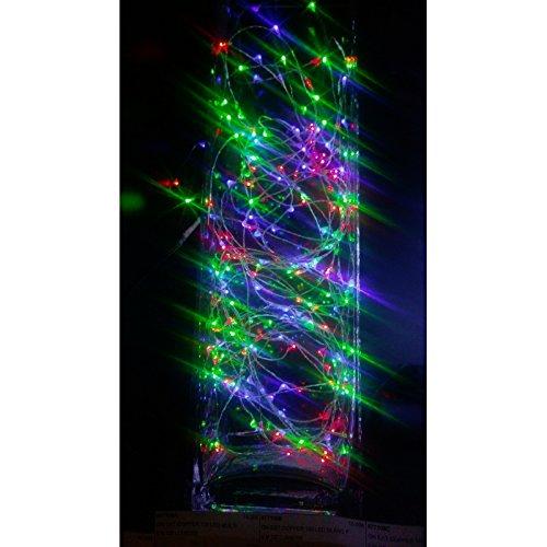 Guirlande cascade intérieur 400 LED - 2 m - Multicouleur