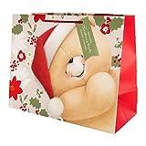 Hallmark - Sacchetto regalo di Natale, misura media, motivo: Forever Friends