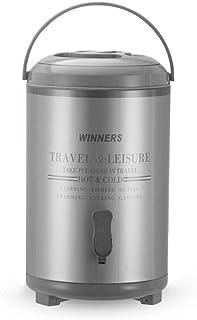 Chauffe-boissons - Distributeur d'eau chaude isotherme - Pour café, lait, thé glacé - Urne en acier inoxydable avec robine...