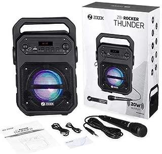 Zoook Rocker Thunder 20 watts Bluetooth Speaker with Karaoke Mic/TF/FM/LED/USB/Party Speaker - Black