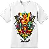 Marvel Guardianes de la Galaxia - Vector Style T Shirt (S-3XL) Vengadores Iron Man Thor Hulk Batman