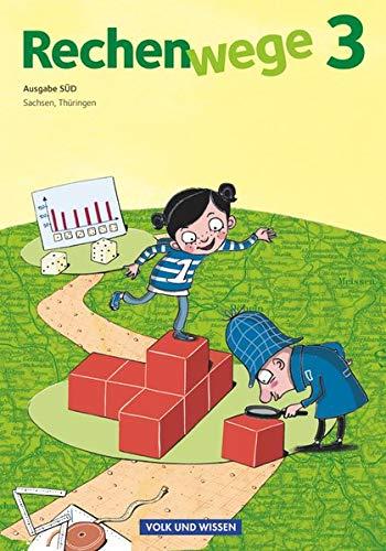 Rechenwege - Süd - Aktuelle Ausgabe - 3. Schuljahr: Schülerbuch mit Kartonbeilagen