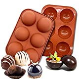 6 Holes Medium Semi Sphere Silicone Mold, Valentines Day Gifts For...