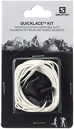 Salomon Quicklace KIT System Schnürsenkel Traillaufschuhe, Weiß (Natural), Einheitsgröße
