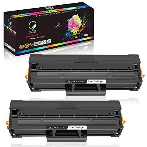 Gootior Compartible para Samsung MLT-D111S D111L Tóner para impresoras láse, 1800 páginas,Reemplazo para Samsung Xpress M2020 M2020W M2022 M2022W M2026 M2026W M2070 M2070F M2070FW M2070W, 2 Negro