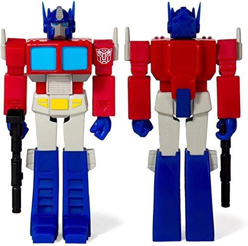 SUPER7 TRANW01-OPT-02 Transformers: Optimus Prime Reaction Figure, Multicolor