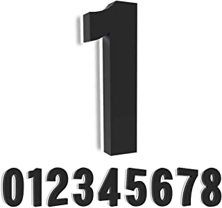 Homlux House Numbers, 8 Inch Backlit LED Address Number with Stainless Steel, Weather-Proof, 12V, Modern Illuminated Floating Numbers (Number 1)