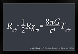 CANVAS ON DEMAND Einstein Theory of Relativity Black Framed Art Print, 33
