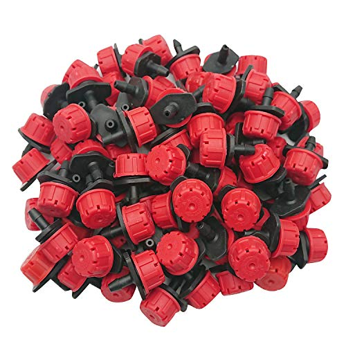 Axe Sickle 100pcs Adjustable Irrigation Drippers Sprinklers 1/4 Inch Emitter Dripper Micro Drip...
