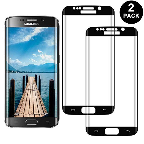 SNUNGPHIR Samsung Galaxy S7 Edge Protector Pantalla, Cristal Templado para Samsung Galaxy S7 Edge Anti-arañazos, Anti-Huella Digital, Sin Burbujas, 2 Unidades