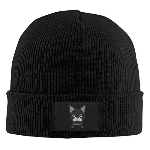 Field Rain I Love French Bulldog Fashion Men 's Warm Winter Hats Thick Knit Cuff Beanie Cap Black