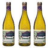 Clos de l'Oratoire des Papes 2018, appellation chateauneuf du pape, vin blanc, lot de 3 bouteilles
