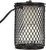 Lámpara de calor de tortuga, 100 W, emisor de cerámica infrarroja con soporte anticalor y gancho para colgar para acuario reptil, lagartos, tortuga, serpientes (negro)