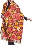 Damen Schal mit Blumen- und Schmetterlings-Motiv, modischer bedruckter Poncho, Umhang, Strickjacke, Wickelschal