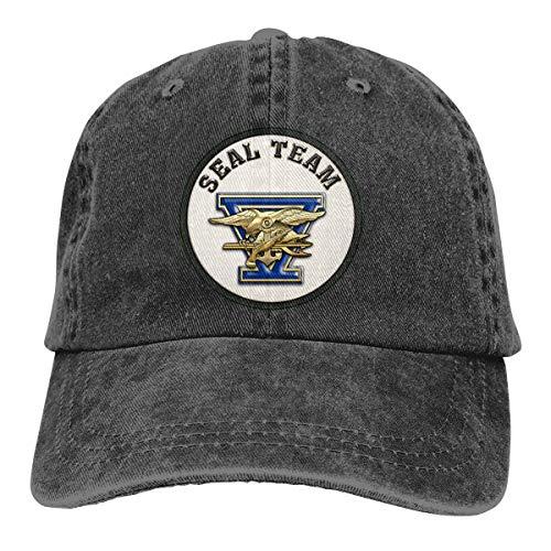 Men Women US Navy Seal Team Five Baseball Cap Denim Dad Hat Trucker's Cap