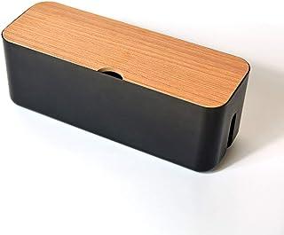 jeerbly Boîte de rangement pour câbles d'alimentation - Anti-poussière - Organiseur de bureau - Panier de rangement pour l...