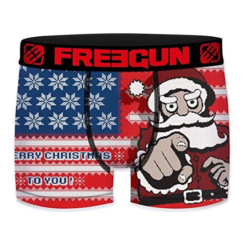 Freegun - Boxer da uomo, collezione di Natale USA S