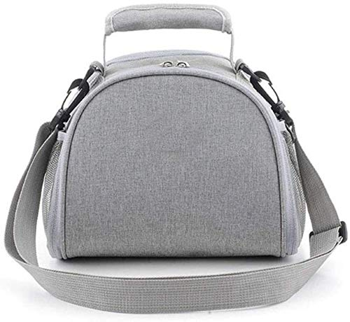 N\A ZT Lunch Box Tasche for Frauen, kühle Tragetasche for Camping-Reisen Schule Wasserdichtes Leakproof Nahrungsmittelkasten Kühltasche mit abnehmbarem Schultergurt (Color : Gray)