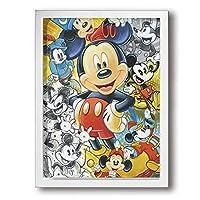 フォトフレーム アートフレーム フレーム ミッキーマウス アートパネル 壁掛け インテリア 装飾 枠付き ポスター パネル 30*40 ポスターフレーム 飾り絵 現代壁の絵 壁掛け 部屋飾り