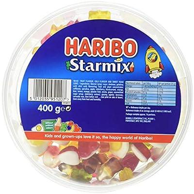 haribo starmix 3.2kg bulk sweets, 8 x 400g tubs HARIBO Starmix 3.2kg bulk sweets, 8 x 400g tubs 51rgEwmI9sL