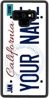 BleuReign Personalized Custom Name California State License Plate Rubber Phone Case for Samsung Galaxy Note 9