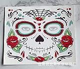 LLD 2PC Halloween Impermeable Etiqueta engomada del Tatuaje Temporal Maquillaje Facial Cara Especial...