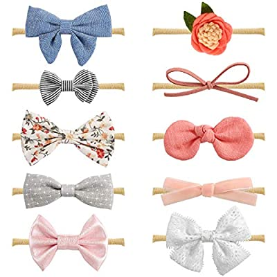 Baby Girl Headbands and Bows, Newborn Infant Toddler Hair Accessories by MiiYoung by MiiYoung