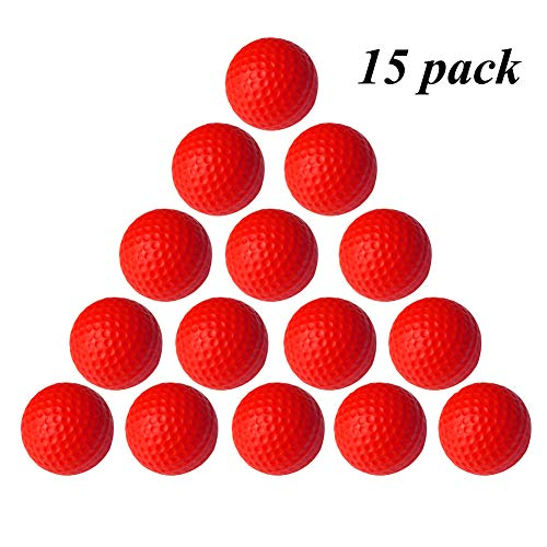 VUXYMCY Golfbälle für drinnen und draußen, elastisch, PU-Schaum, rot