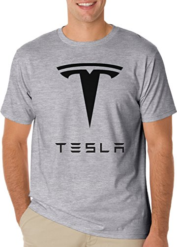 Cars Tesla Logo T-Shirt Men\'s Classic T-Shirt XX-Large