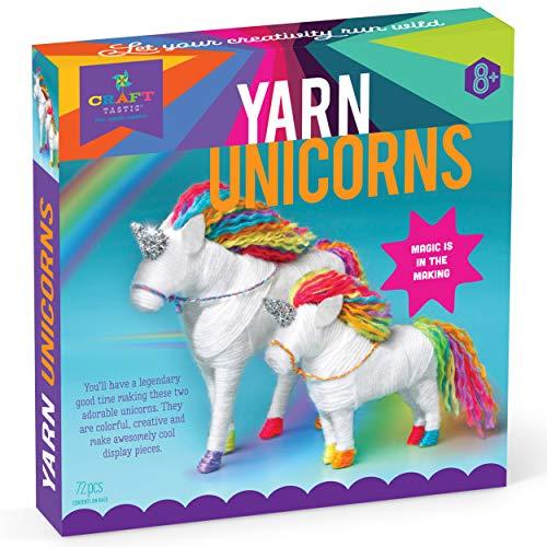 Craft-tastic – Yarn Unicorns Kit – Craft Kit Makes 2 Yarn-Wrapped Unicorns