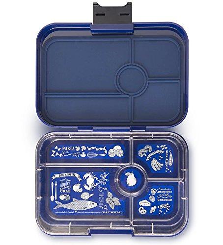 Yumbox Tapas XL Bentobox für Erwachsene & Teenager (Portofino Blue, 5er Bon Appetit) - Lunchbox mit Fächern - Brotdose mit Unterteilung