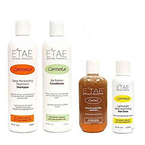 Etae Natural Products Carmelux Shampoo Conditioner Gloss E'tae Carmel Treatment Combo Kit