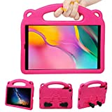 NEWSTYLE Funda Anticaída para Samsung Galaxy Tab A 10.1' 2019 (SM-T510/SM-T515),Carcasa Rugosa con Soporte Asa de Mano para Niños Funda para Galaxy Tab A Tablet 10.1' 2019 (Rosa)