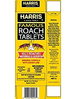 Harris Roach Tablets, Boric Acid Roach Killer with Lure (4oz, 96 Tablets) للبيع
