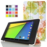 MoKo Smart Shell Case for Nexus 7 2013 (Flower Green)