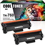 Cool Toner Compatible Toner Cartridge Replacement for Brother TN760 TN-760 TN730 TN-730 Toner HL-L2350DW MFC-L2710DW HL-L2370DW MFC-L2750DW HL-L2395DW DCP-L2550DW HL-L2390DW Printer (Black, 2-Pack)