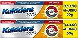 Crema Adhesiva Doble Acción de Kukident compatible |Para Dentaduras Postizas| 60gr,-Pack 2Un.
