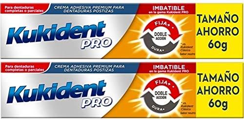 Kukident Pro Dentaduras Postizas 60gr, Doble Accion.Pack 2Un.