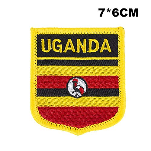 Oeganda Shield Vorm vlag patches nationale vlag patches voor Cothing DIY Decoratie PT0185-S