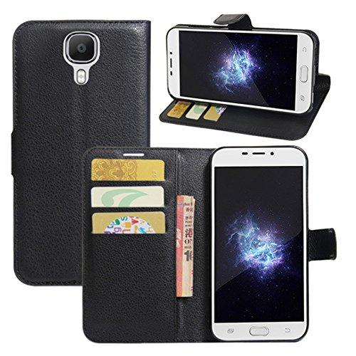 HualuBro Doogee X9 Pro Hülle, [All Aro& Schutz] Premium PU Leder Leather Wallet HandyHülle Tasche Schutzhülle Flip Hülle Cover für Doogee X9 Pro Smartphone (Schwarz)