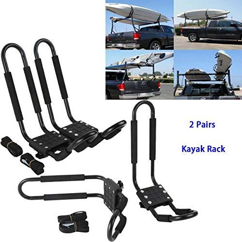 TCT-MT 4 Kayak Roof Rack Carrier Boat Ski Surf Snowboard Roof Mount Car Cross J-Bar Rack Universal...
