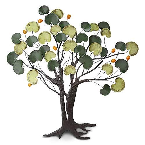 GILDE Wandrelief Pfennigbaum - mehrfarbig aus Metall H 84 cm B 90 cm