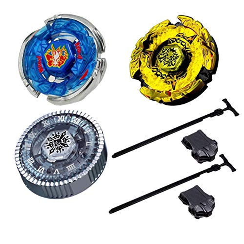 Bey Battle Metal Fusion Turbo Evolution Set with 4D Launcher Set Packed in Storage Case Toys for Prime