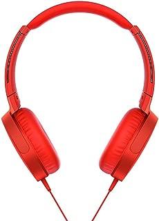 Sony XB550AP EXTRA BASS Headphones, Red