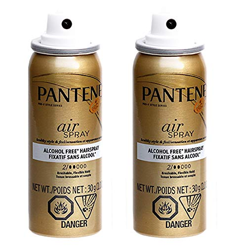 Price comparison product image Pantene Pro-V Series Air Spray Brushable,  Flexible Hold Hair Spray,  Alcohol Free,  2 Dot - 1 Oz / 30g x 2 Pack
